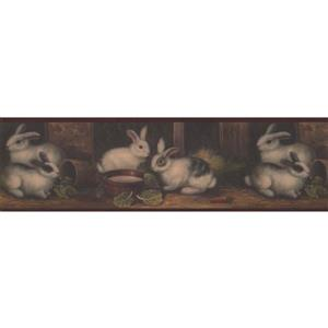 "Chesapeake Wallpaper Border - 15' x 6.75"" - Bunnies in the Barn"