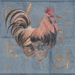 York Wallcoverings Wallpaper Border - 15-ft x 10.25-in - Roosters on Letter Pages
