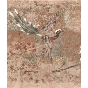 York Wallcoverings Wallpaper Border - 15-ft x 9-in - Japanese Sakura Cherry/Birds