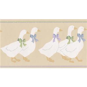 Norwall Wallpaper Border - 15' x 5.25-in- Vintage Ducks - Brown