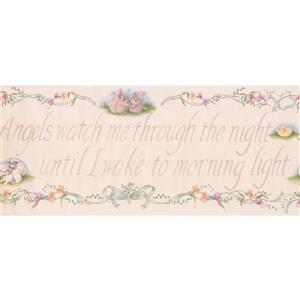 York Wallcoverings Wallpaper Border-15-ft x 10.25-in -Writing/Rabbit Duckling Sheep