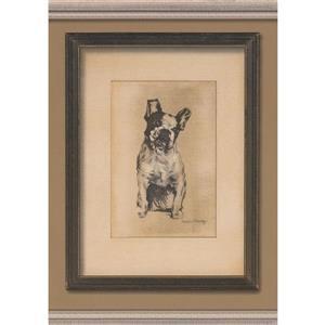 "Retro Art Wallpaper Border - 15' x 10"" - Dog Pictures - Brown"