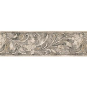 Norwall Wallpaper Border - 15' x 7-in- Retro Abstract Floral Design