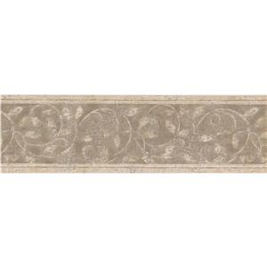 Norwall Wallpaper Border - 15' x 7-in- Abstract Damask Design