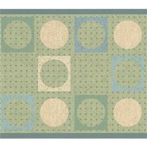 York Wallcoverings Wallpaper Border - 15-ft x 6-in - Geometric Design - Green