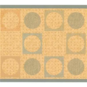York Wallcoverings Wallpaper Border - 15-ft x 6-in - Geometric Design - Brown