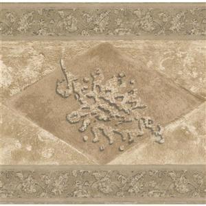 Norwall Wallpaper Border - 15' x 7-in- Abstract/Rhombus - Brown/Beige