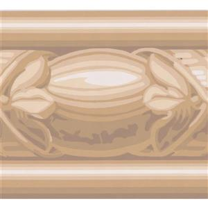 York Wallcoverings Wallpaper Border - 15-ft x 4-in - Abstract Design - Brown/White