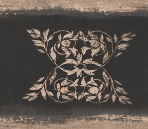 "Retro Art Wallpaper Border - 15' x 4"" - Abstract Damask - Brown/Black"