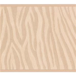 "Retro Art Wallpaper Border - 15' x 7"" - Wave Design - Brown/Beige"