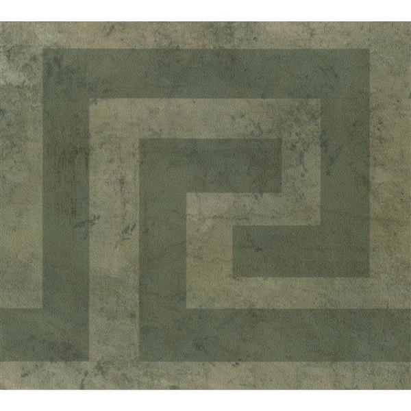 Norwall Wallpaper Border 15 X 5 25 In Abstract Design Dark Green