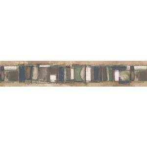 Norwall Wallpaper Border- 15' x 4.25-in- Abstract - Multicolour
