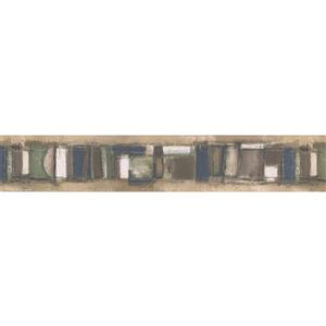 Norwall Wallpaper Border - 15' x 4-in- Abstract - Multicolour