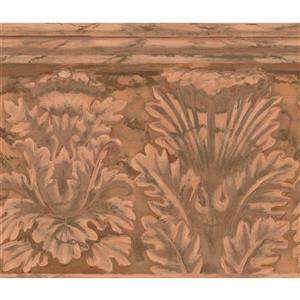 York Wallcoverings Wallpaper Border - 15-ft x 10.25-in - Abstract Damask - Brown