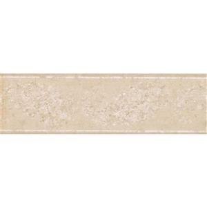 Norwall Wallpaper Border - 15' x 7-in- Abstract Paisley - Beige