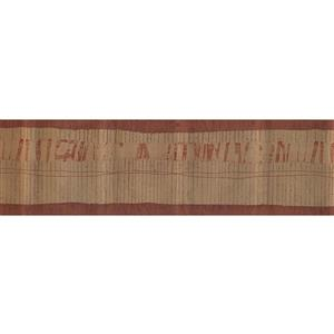 Norwall Wallpaper Border - 15' x 7-in- Abstract Design - Brown/Red