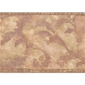Norwall Wallpaper Border - 15' x 7-in- Abstract Damask - Beige