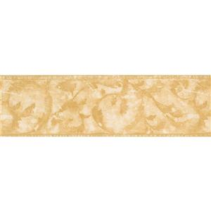 Norwall Wallpaper Border - 15' x 7-in- Abstract Damask - Yellow/Beige
