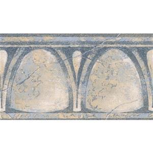 Norwall Wallpaper Border - 15' x 4.25-in- Old Style - Blue/Beige