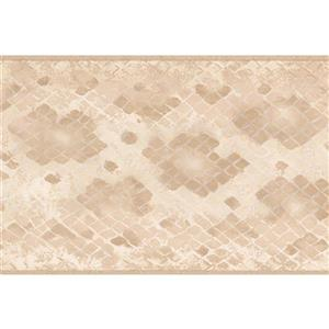 "Retro Art Wallpaper Border - 15' x 5.25"" - Checkered - Brown/Beige"