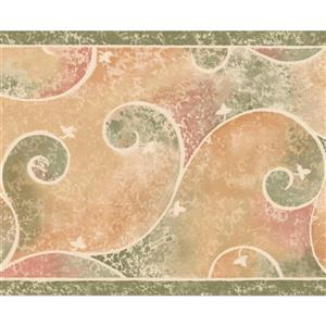 "Retro Art Wallpaper Border - 15' x 8"" - Abstract Paisley - Multicolour"