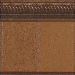 "Retro Art Wallpaper Border - 15' x 10.5"" - Old Style - Brown"