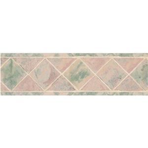 "Retro Art Wallpaper Border - 15' x 7"" - Abstract Rhombus - Multicolour"