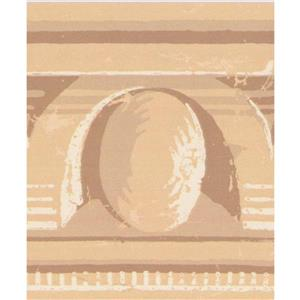 York Wallcoverings Wallpaper Border -15-ft x 4.5-in - Old Style -Beige/Yellow/Brown