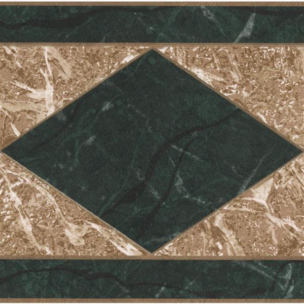 Norwall Wallpaper Border 15 X 5 25 In Rhombus Granite Beige