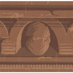 York Wallcoverings Wallpaper Border - 15-ft x 4.5-in - Old Style - Brown