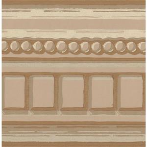 York Wallcoverings Wallpaper Border - 15-ft x 5-in - French Design - Brown/Beige