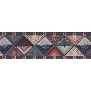 Norwall Wallpaper Border - 15' x 7-in- Rhombus Southwestern Design
