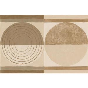 Norwall Wallpaper Border - 15' x 7-in- Abstract Circles - Beige/Brown