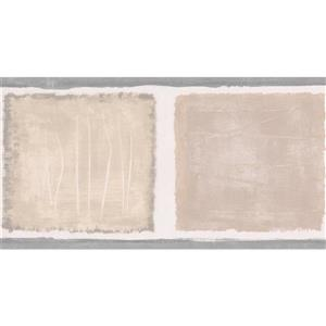 Norwall Wallpaper Border- 15' x 5.25-in- Abstract Square -Beige/Brown