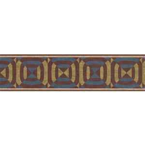 York Wallcoverings Wallpaper Border - 15-ft x 6-in - Geometric Design - Multicolour