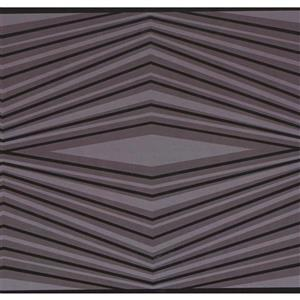 York Wallcoverings Wallpaper Border - 15-ft x 6-in - Abstract Lines - Purple/Black