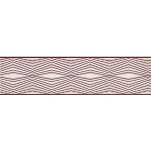 York Wallcoverings Wallpaper Border - 15-ft x 6-in - Abstract Lines- Red/Grey/White