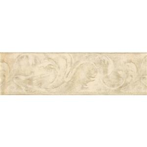 York Wallcoverings Wallpaper Border - 15-ft x 7-in - Abstract Design - Beige/Brown
