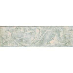 York Wallcoverings Wallpaper Border - 15-ft x 7-in - Abstract Design - Beige/Silver