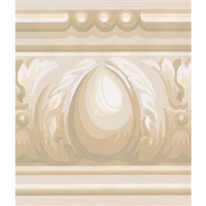 York Wallcoverings Wallpaper Border - 15-ft x 5.25-in - Abstract Victorian - Beige