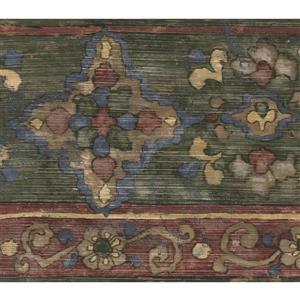 Norwall Wallpaper Border - 15' x 9-in- Abstract Design - Multicolour