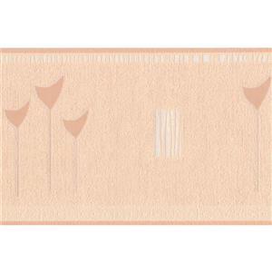 "Retro Art Wallpaper Border - 15' x 5"" - Abstract Design - Beige"