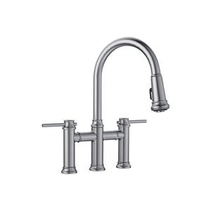 Blanco Empressa Pull-Down Dual Faucet - Stainless Steel