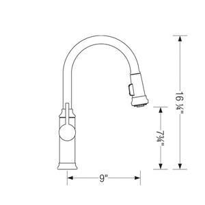 Blanco Empressa Pull-Down Kitchen Faucet -S. Steel
