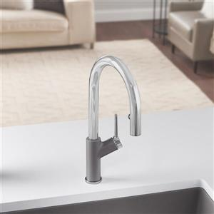 Blanco Urbena Pull-Down Kitchen Faucet - Chrome/Grey