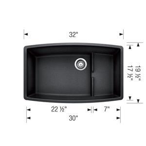 Performa Cascade Undermount Sink - Off-White - 32-in