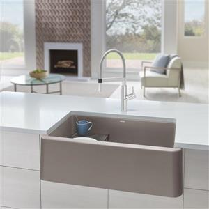 Blanco Ikon Farmhouse Kitchen Sink - 33-in - Truffle