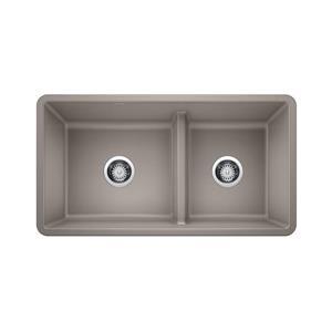 Blanco Precis Low Divide Undermount Sink - Truffle