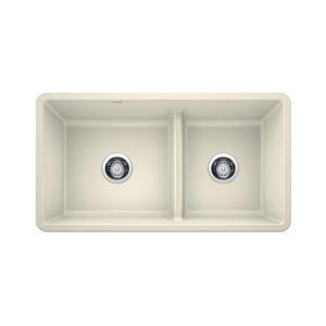 Blanco Precis Low Divide Undermount Sink - Biscuit