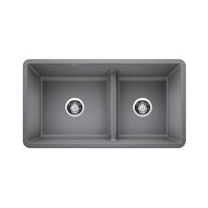 Blanco Precis Low Divide Sink - Grey - 13.75-in